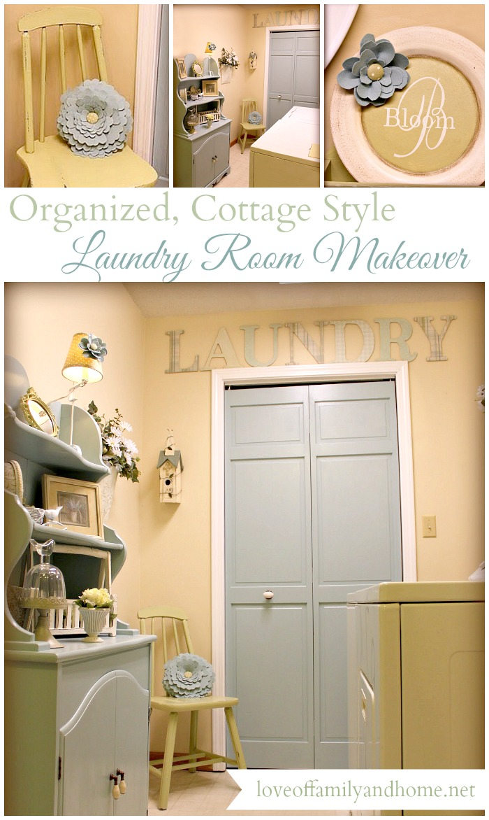 Organized, Cottage Style Laundry Room Makeover