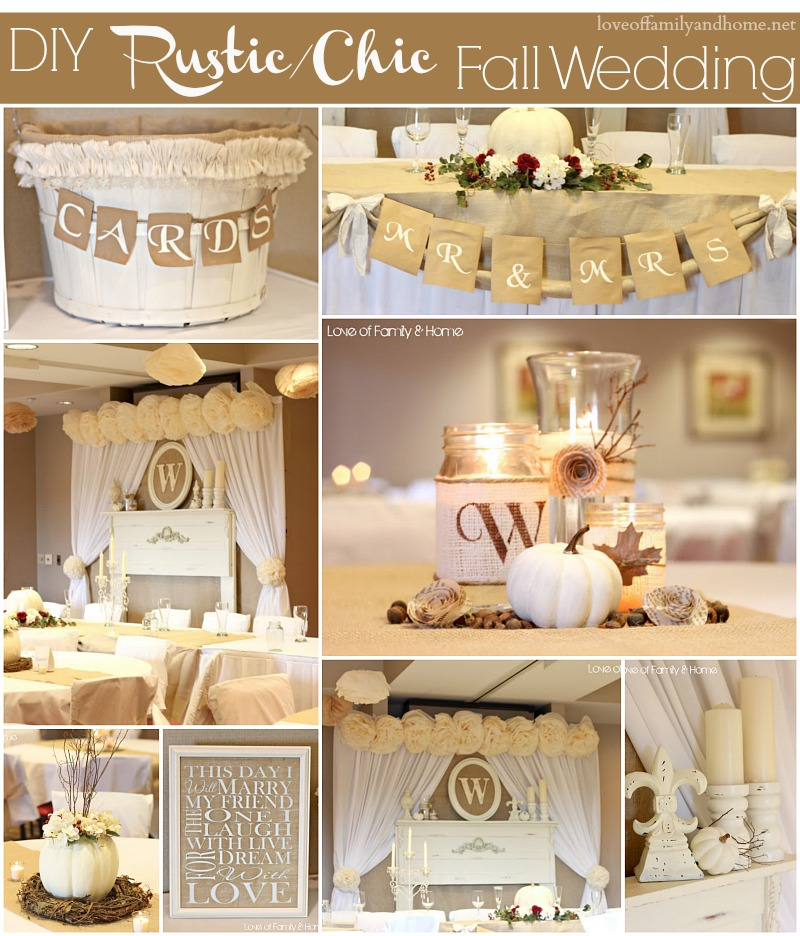 diy fall wedding decor images
