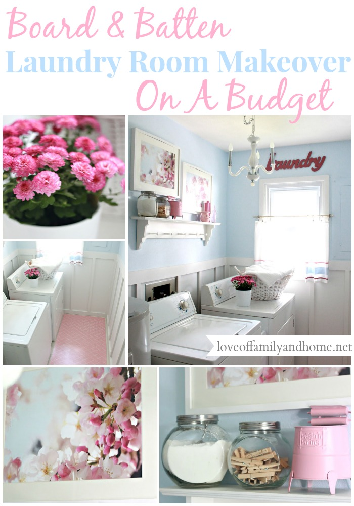 Board & Batten Laundry Room Makeover On A Budget