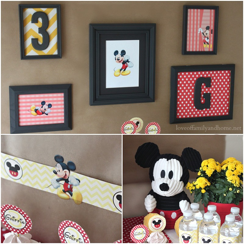 Cute Mickey Mouse Party Collage