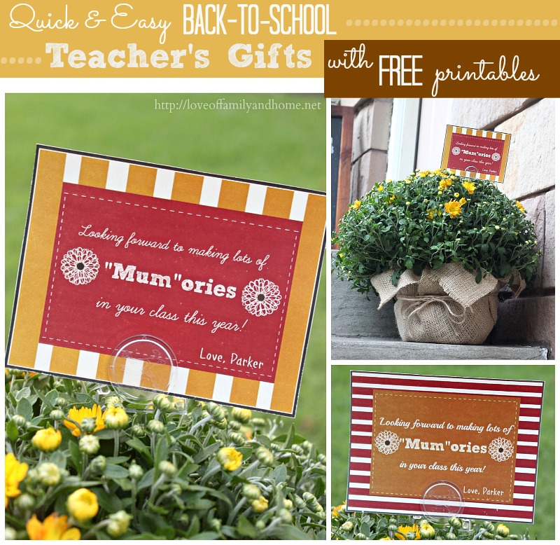 Back-To-School Teacher's Gift Idea with FREE printables