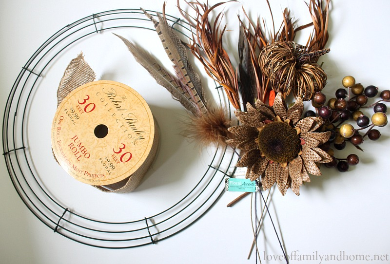 Burlap Fall Wreath 15
