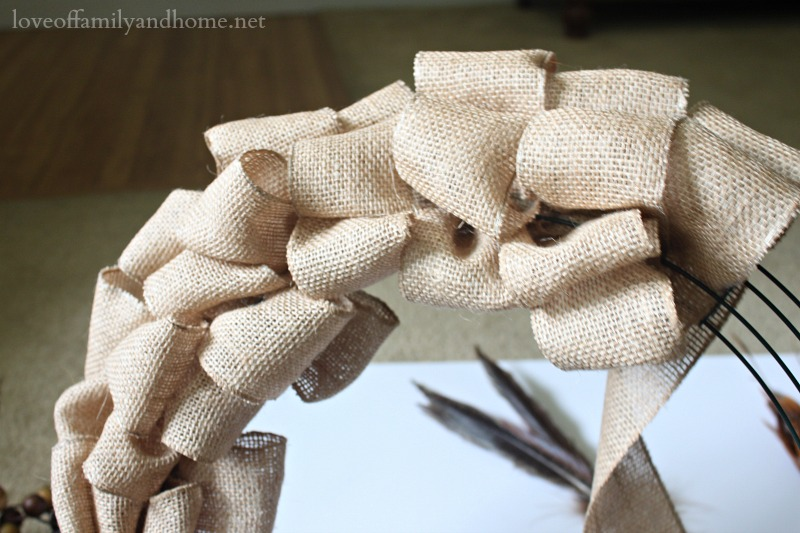 Burlap Fall Wreath 8