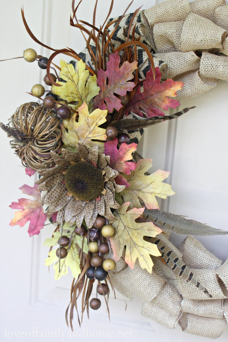 Burlap Fall Wreath Tutorial