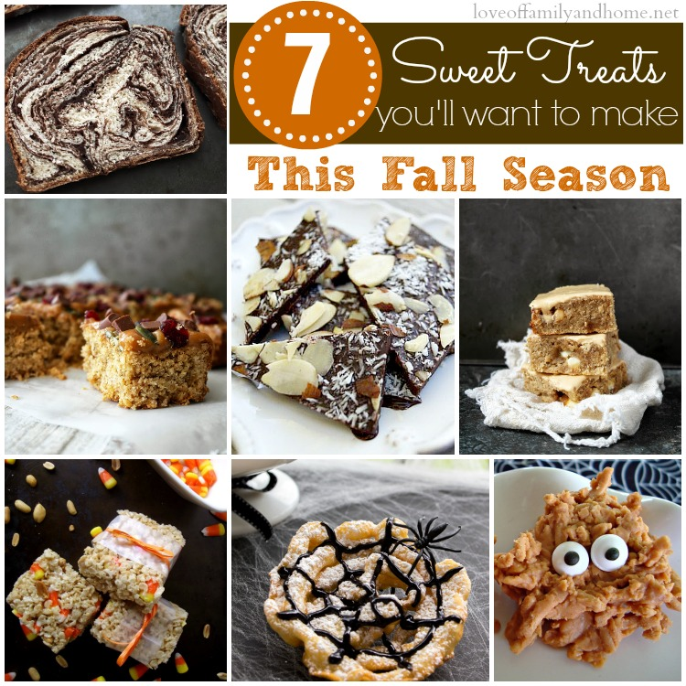 """7 Sweet Treats You'll Want to Make This Fall Season {""""Inspire Me Please"""" Weekend Blog Hop Party Features}"""