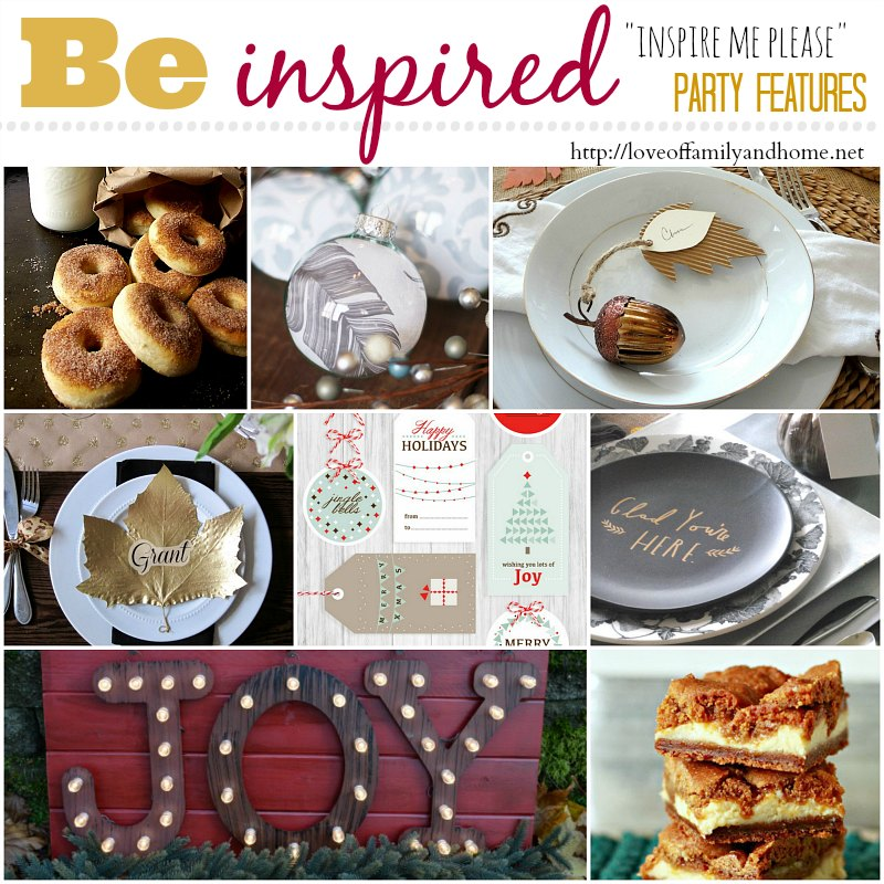 """Inspire Me Please"" Weekend Blog Hop Party Features"