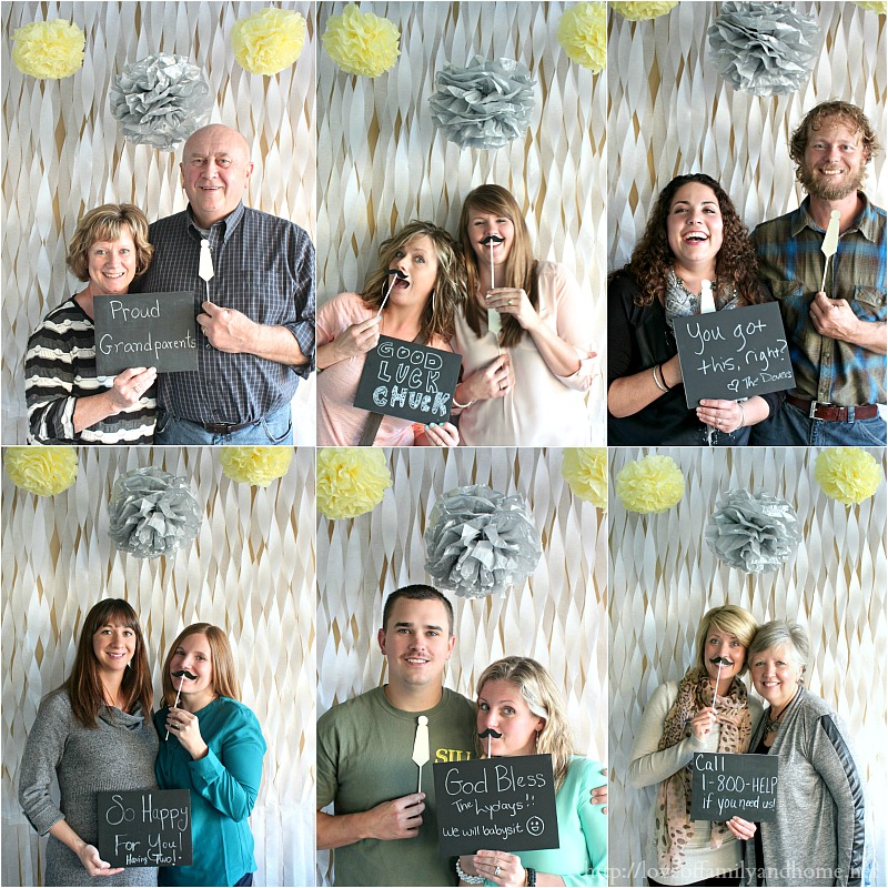 Gray & Yellow Baby Shower Decorating Ideas-Photo Booth