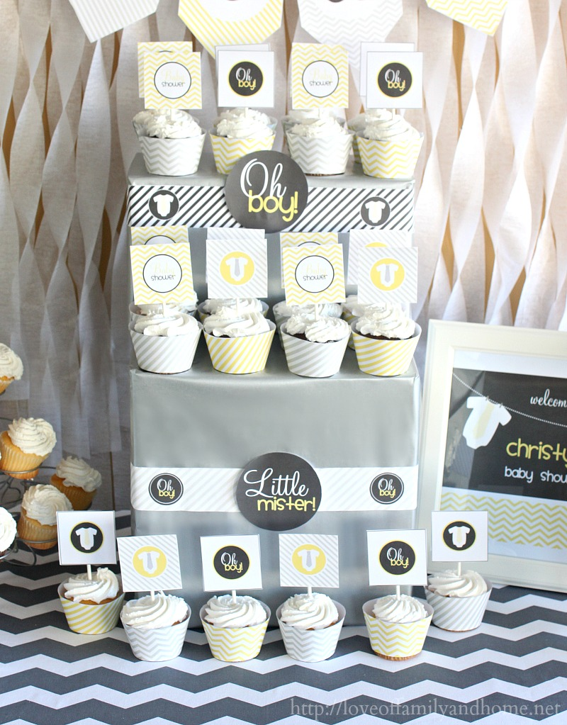 Bathroom Decorating Ideas Gray And Yellow gray & yellow baby shower decorating ideas - love of family & home