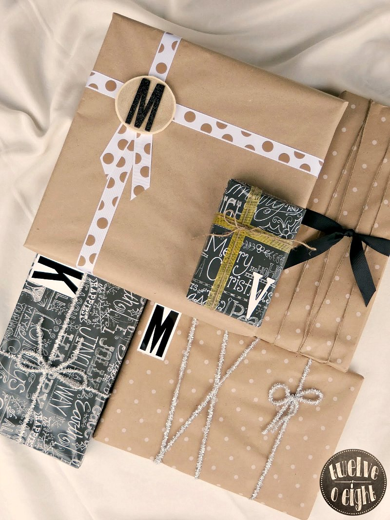 country modern gift wrap 1