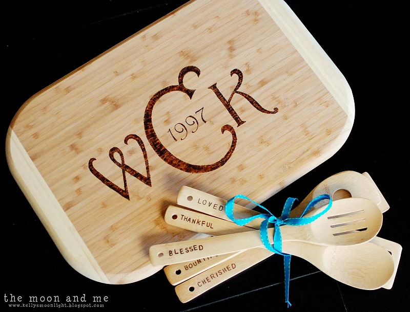 cutting board and spoons 3
