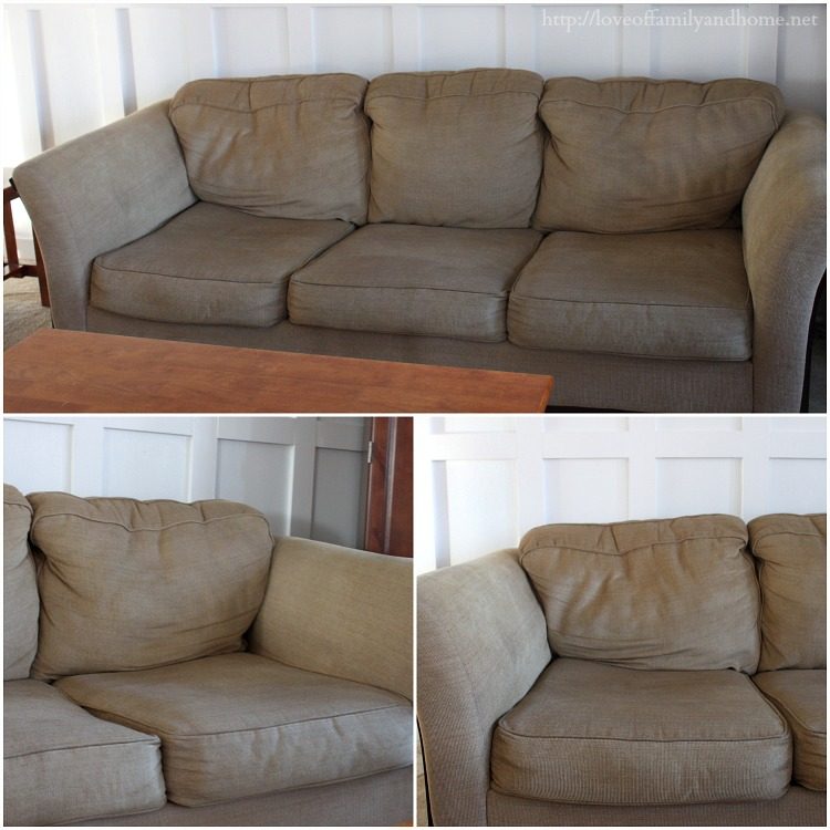 Take That Old, Worn Out Sofa & Make It Look New Again (An EASY step-by-step tutorial)