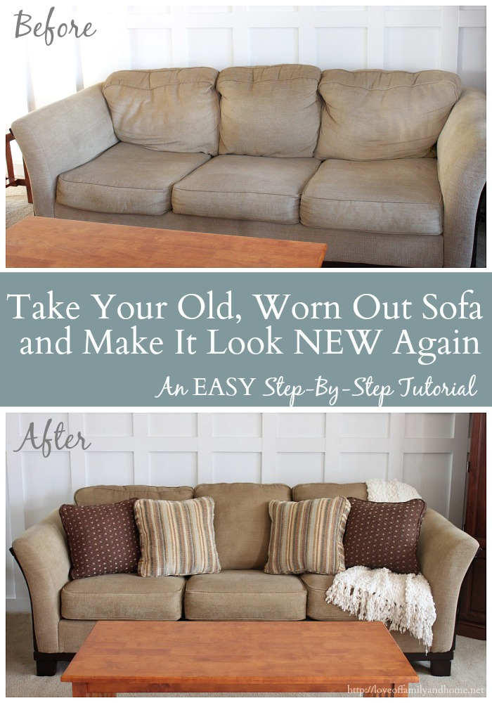 Take That Old, Worn Out Sofa U0026 Make It Look New Again (An EASY