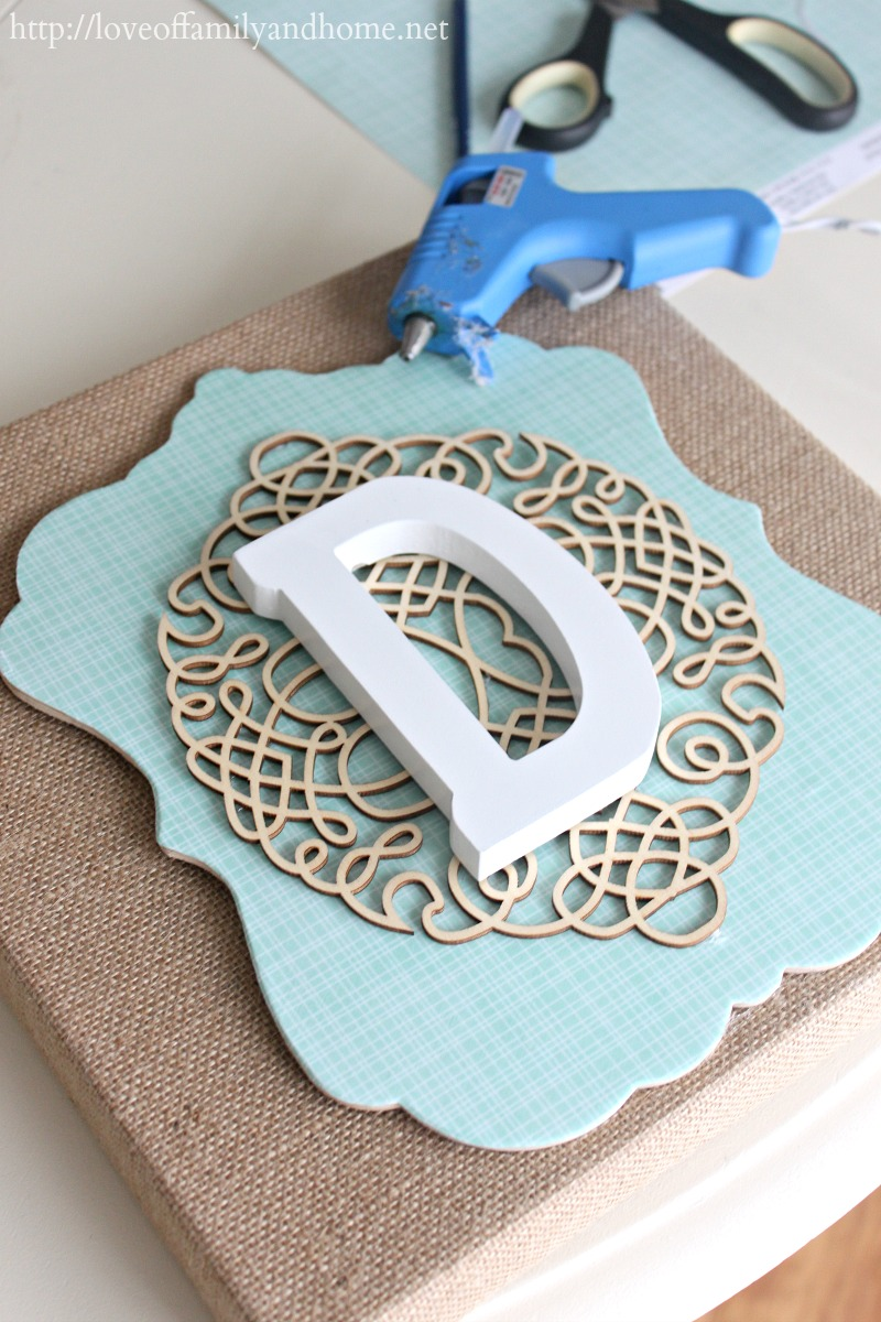 How To Make Wall Decoration Items : Diy burlap monogram michaels hometalk in store