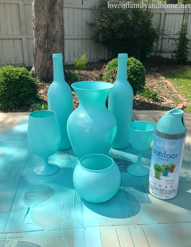 spray painted centerpieces 5
