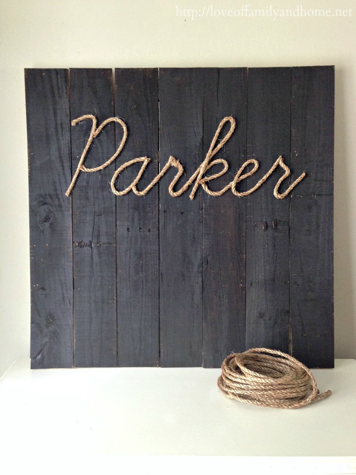 Diy Wall Art Name : Diy rope name art love of family home