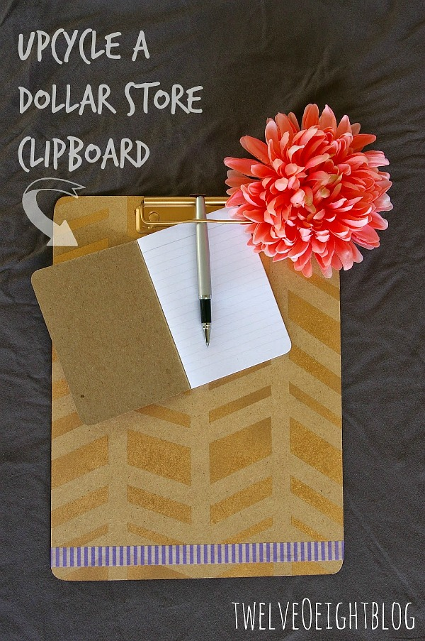 upcycle dollar store clipboard 1