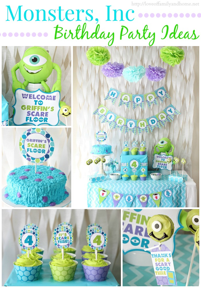 Monsters Inc Birthday Party Love Of Family amp Home