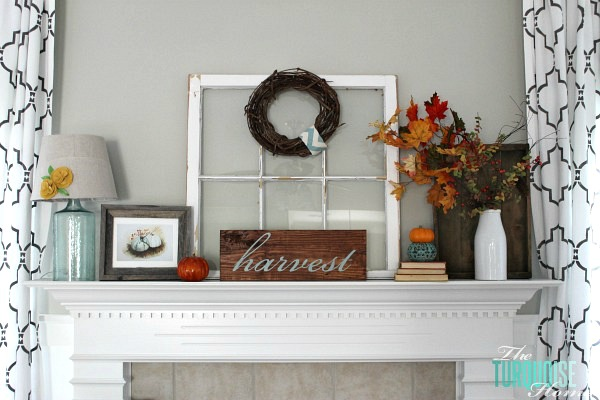 turquoise-orange-fall-mantel-3