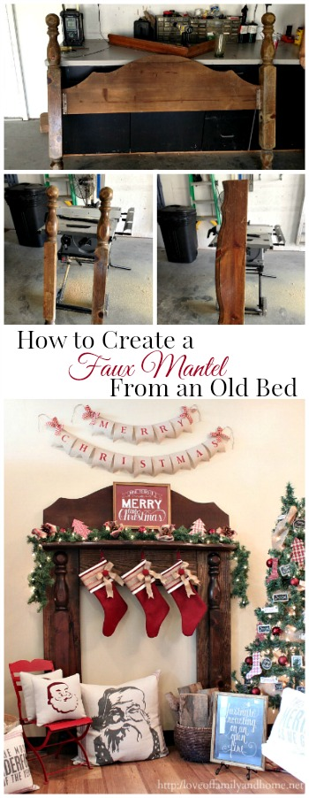 How To Create a Faux Mantel From an Old Bed