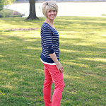 What I Wore….Coral meets Navy
