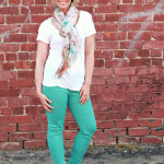What I Wore….Mint/Aqua Denim