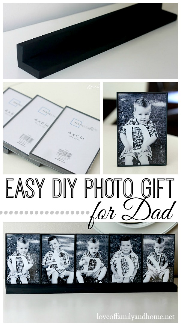 Easy DIY Photo Gift For Dad