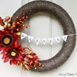 Fall Wreath With Harvest Bunting {Pool Noodle Wreath}