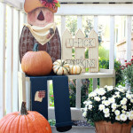 Front Porch Decorated For Fall….