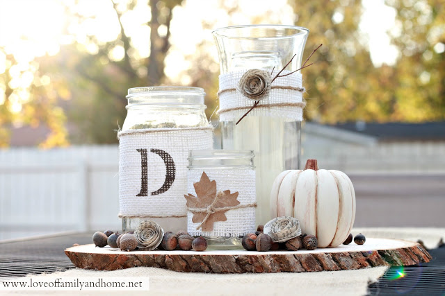 Simple Fall Wedding Centerpieces: Rustic Fall Centerpiece Tutorial