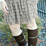 What I Wore: Ruffle Skirt (Little Spud Boutique)
