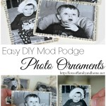 Mod Podge Photo Ornaments (Tutorial)