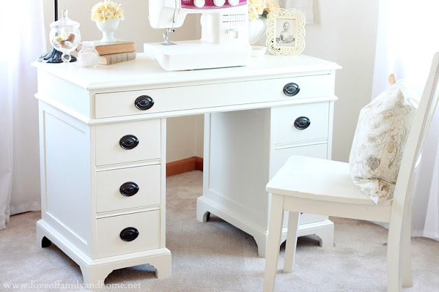 - Goodwill Desk Makeover - Love Of Family & Home