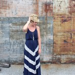 What I Wore: Lace Chevron Maxi Dress