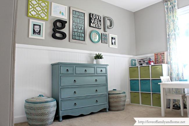 Playroom Gallery Wall 15. Boys Shared Bedroom