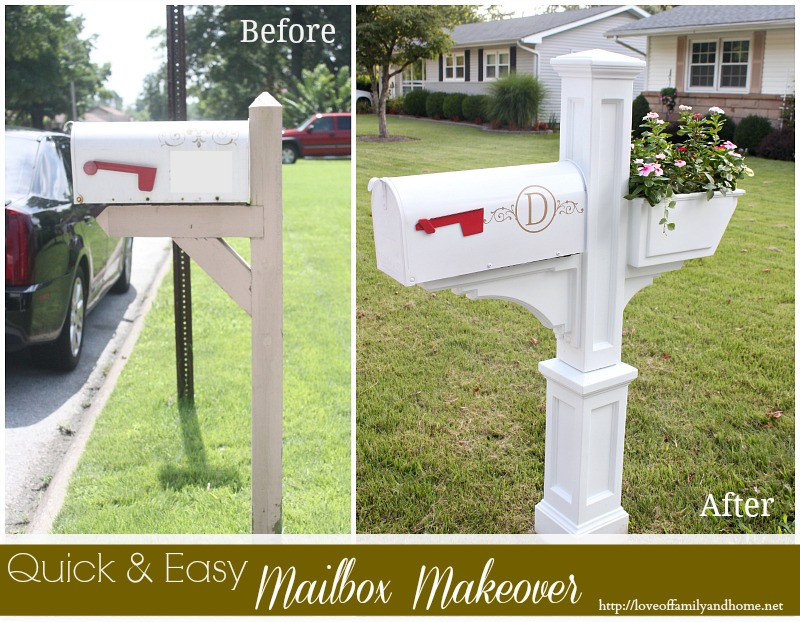 Quick Easy Mailbox Makeover