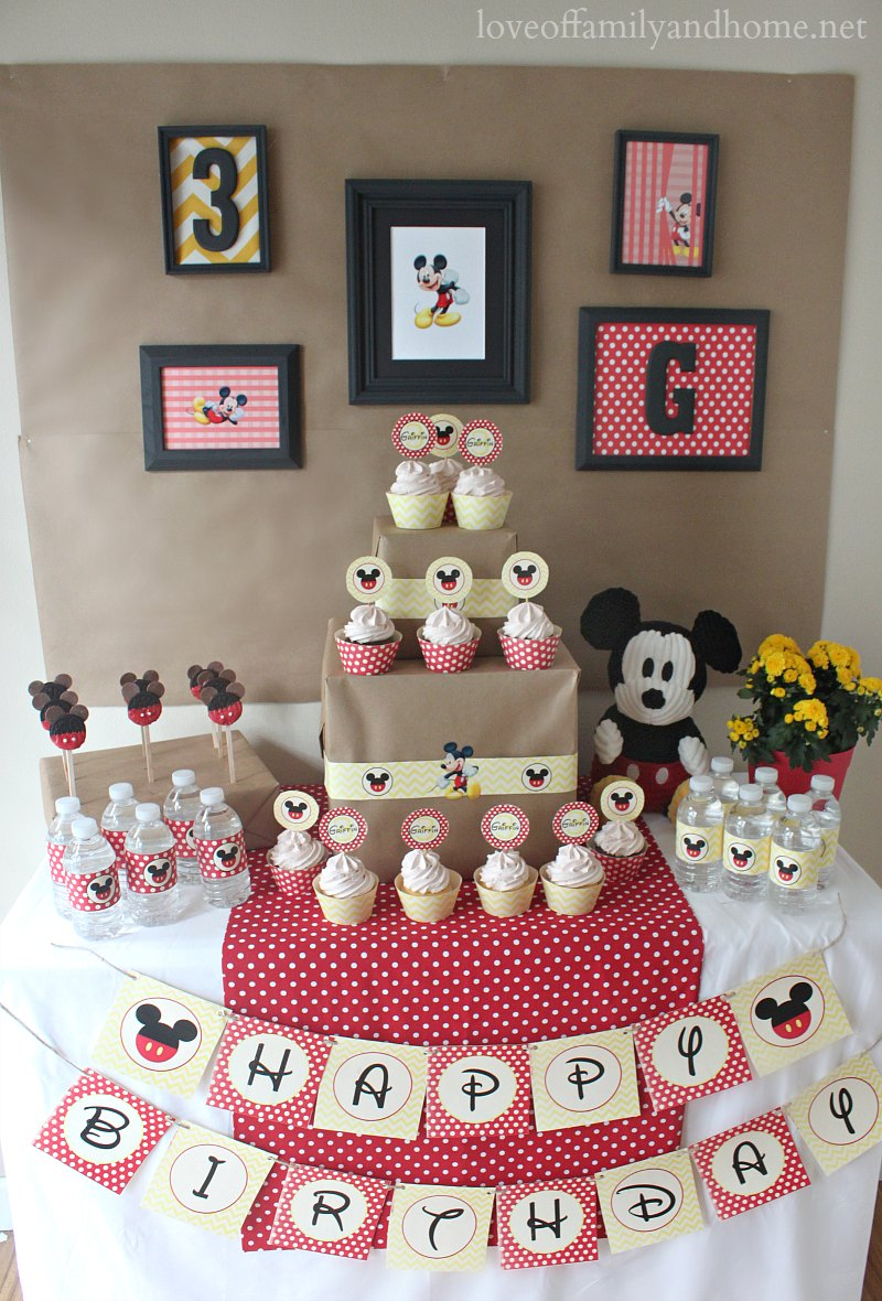 Mickey Mouse Birthday Party Ideas Griffin Turns Three