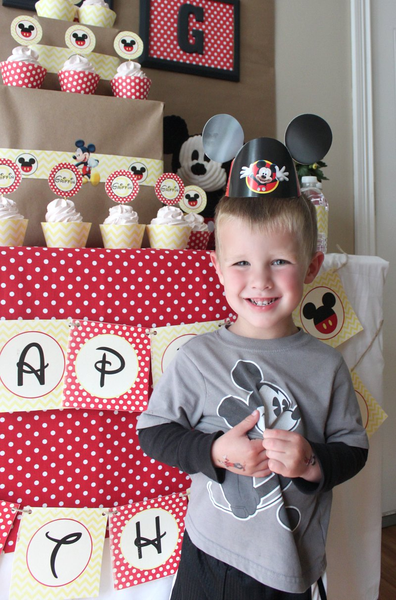 Mickey Mouse Birthday Party Ideas {Griffin Turns THREE} - Love of ...
