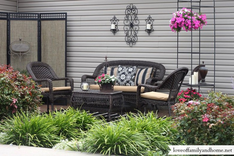 garage makeover ideas - Patio Makeover My Mom s House Love of Family & Home