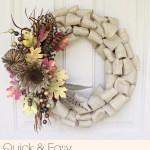 Quick & Easy Burlap Fall Wreath {Tutorial}