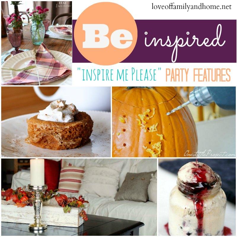 """""""Inspire Me Please"""" Weekend Blog Hop Party Features Week #34"""