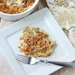 Easy Green Bean Casserole Recipe {with Cheese}
