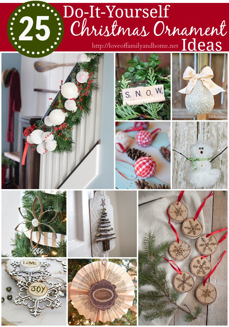 25 diy christmas ornament ideas - Diy Christmas Decorations 2017