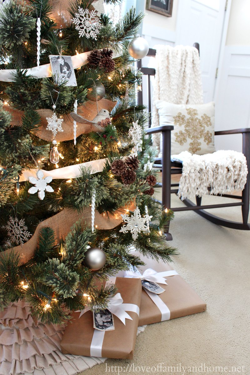 rustic glam christmas tree 31