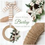 Burlap Christmas Wreath Tutorial