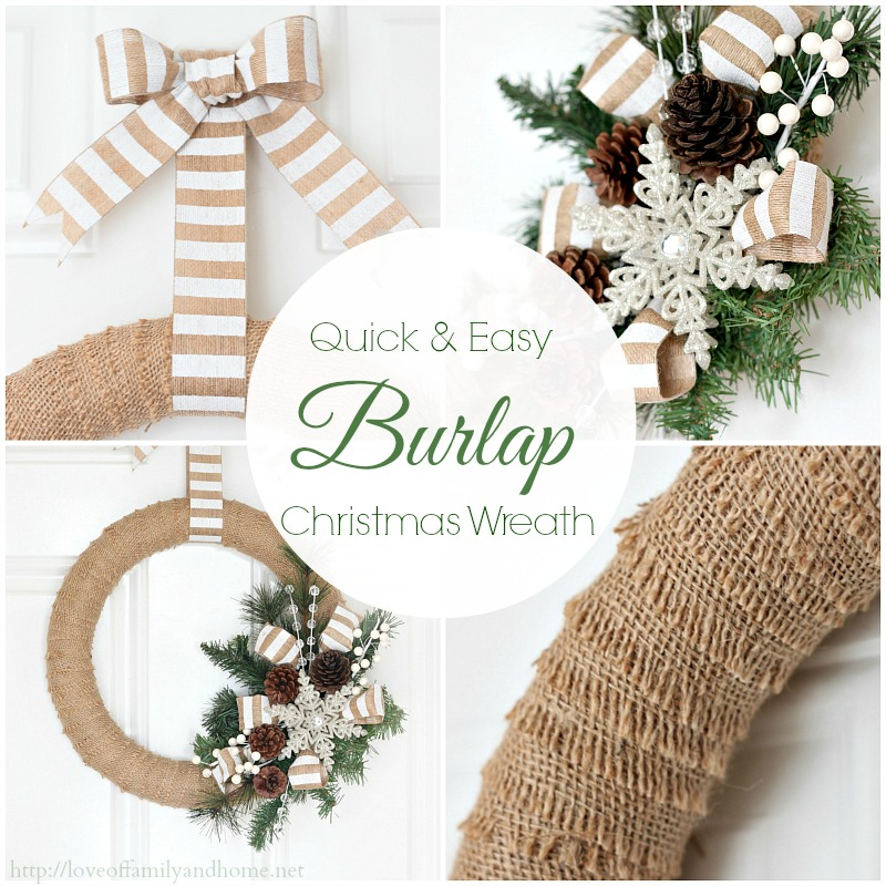 quick easy burlap christmas wreath tutorial - Burlap Christmas