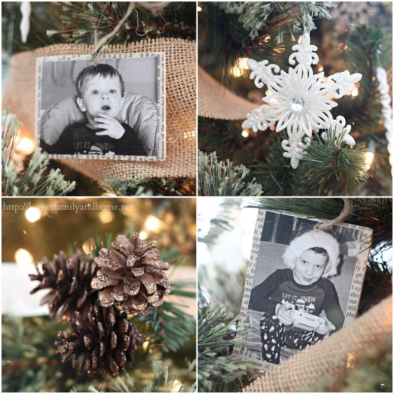 rustic glam Christmas tree collage 3