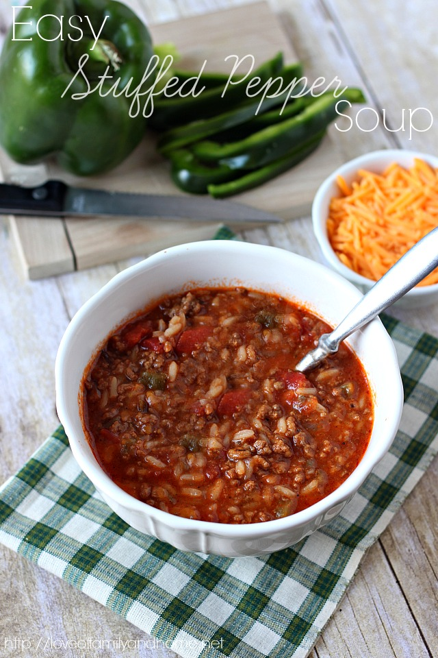 Stuffed Pepper Soup - Love of Family & Home