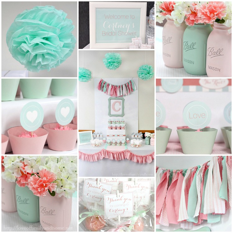 Pink And Mint Bridal Shower My Sisters Bridal Shower Love Of