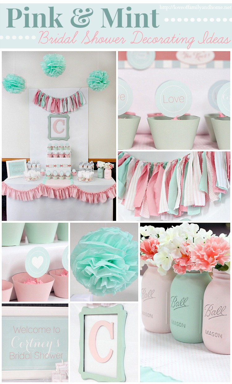 Pink and Mint Bridal Shower {My Sister\'s Bridal Shower} - Love of ...