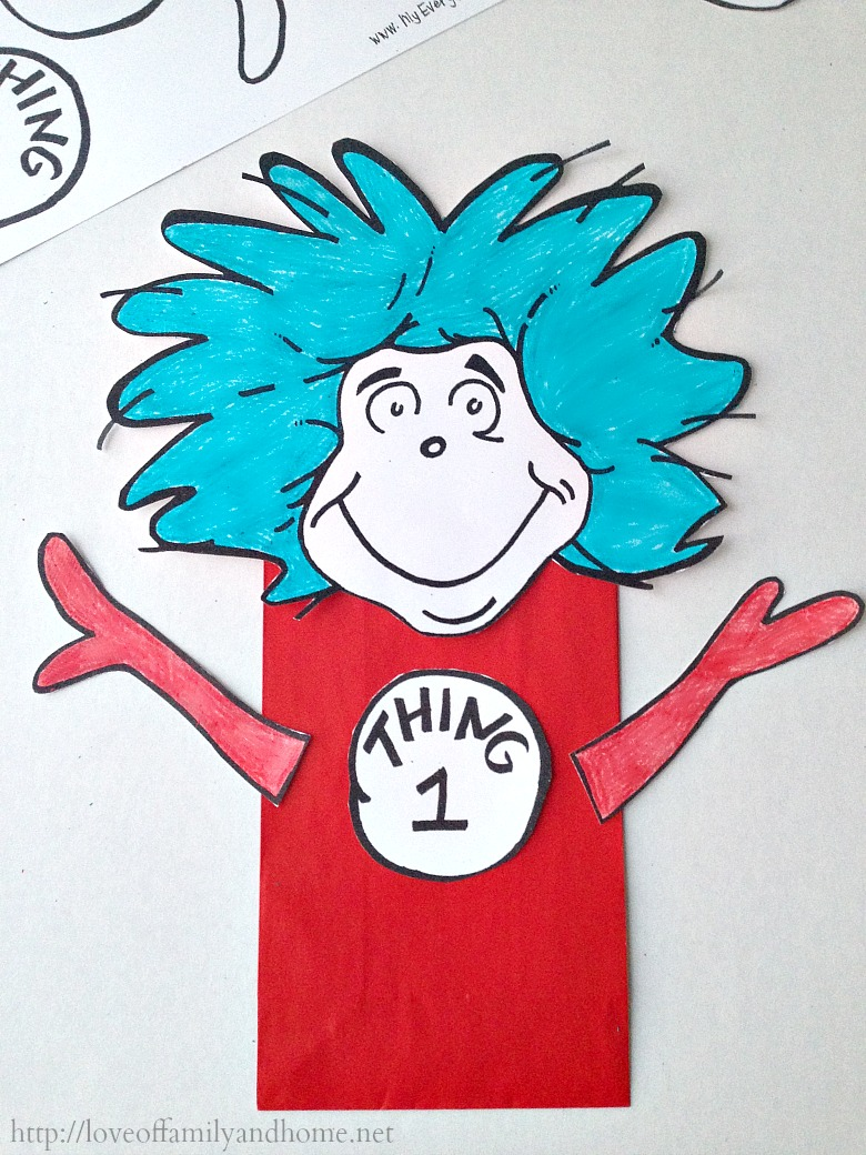 Thing 1 Thing 2 Dr. Seuss Party Favors (Treat Bags) - Love of Family ...